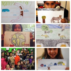 A few of the entries from our 2015 Bridging Futures:  #iHearti90Wildlife social media art contest.